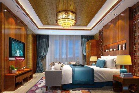 古典中式风格四合院设计效果图 四合院室内装修图片