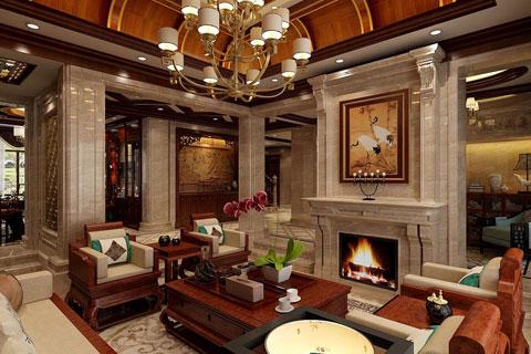 相当大气的中式风格别墅豪宅设计效果图方案