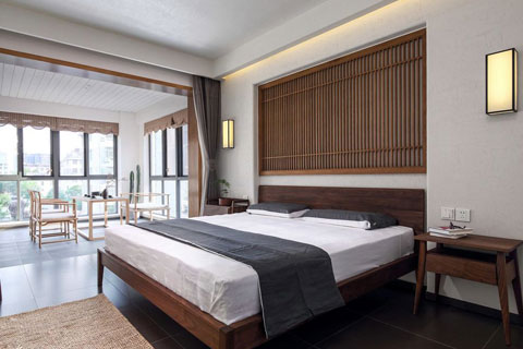新中式风格极简主义民宿装修效果图图片欣赏