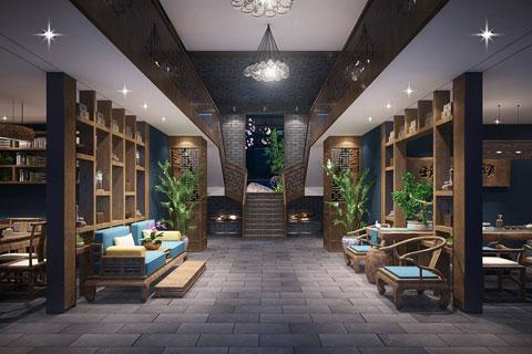 中式民宿风格装修效果图 民宿设计空间图片大全