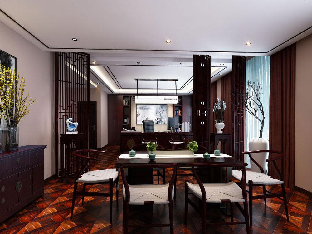 现代中式风格别墅室内设计效果图