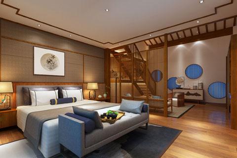 中式风格木元素极简民宿酒店装修设计图片