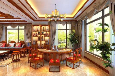 别墅中式装修效果图大全 别墅室内装修图片