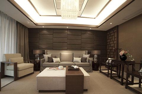 四川成都新中式客厅,卧室,卫生间家装装修效果图