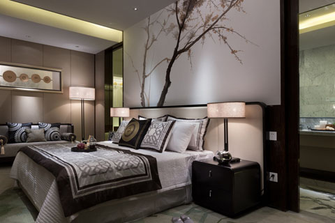 江苏苏州某客户家装卧室,餐厅、大厅等全套效果图图片