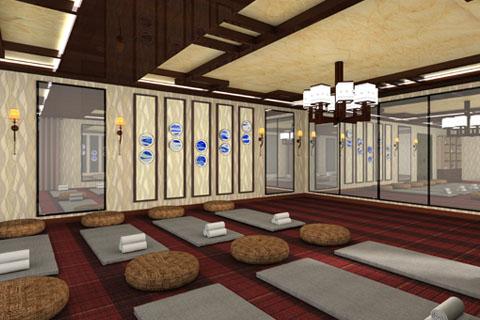 河北禅修私人会所中式装修效果图,禅意玄境和精致的气质