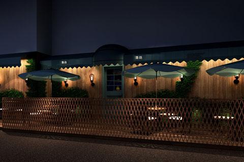 中式酒吧装修设计效果图