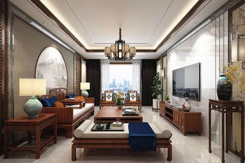 江苏简约别墅中式装修,雅致稳重又温馨恬静高清大图片