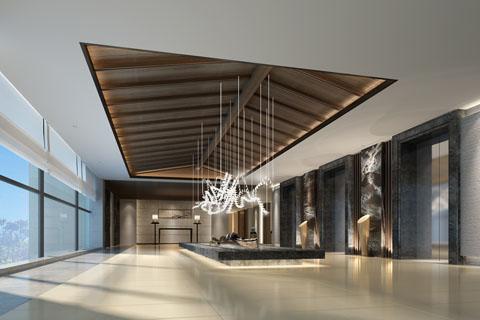 中式酒店完整套图大厅、瑜伽室、卧室、走廊、浴室等图片