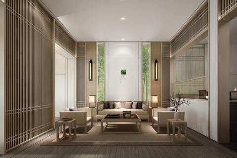 贵州新中式简约会所卧室 茶室 大厅等完整方案套图