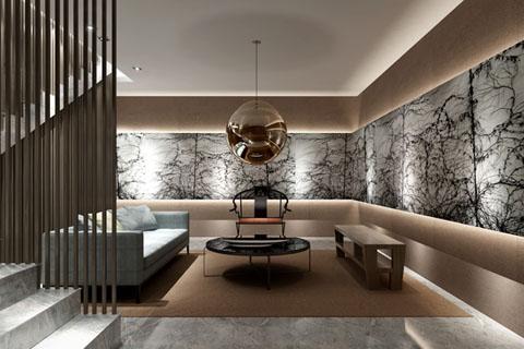 商务会所中式装修效果图,客厅、卧室、茶室等效果图