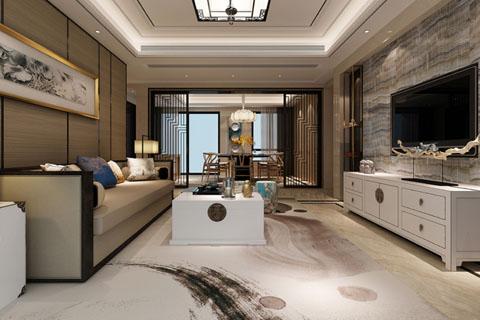 北京简易中式别墅装修设计效果图