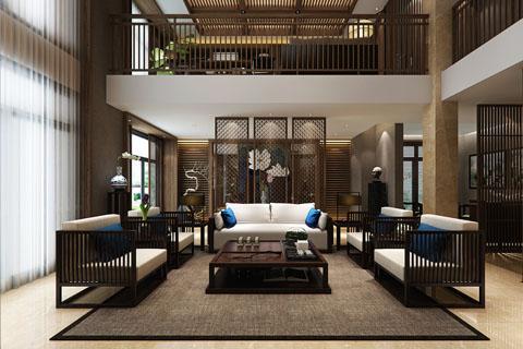 古典别墅客厅、卧室、过道等装修设计效果图图集