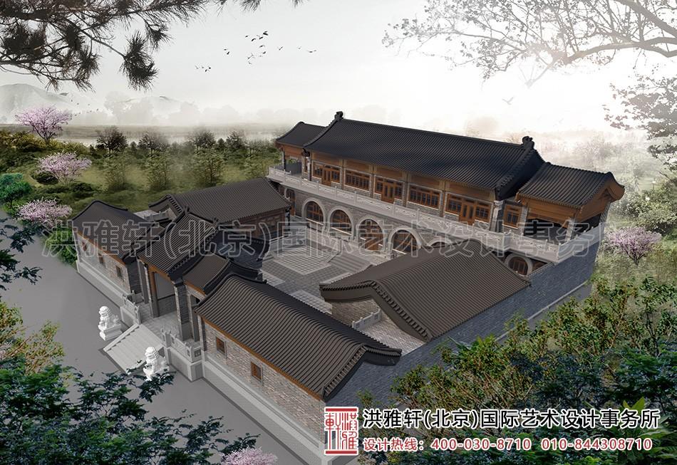 内蒙窑洞四合院设计-鸟瞰图