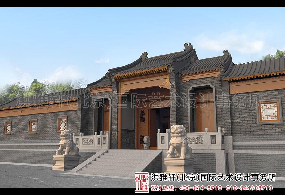 内蒙窑洞四合院设计-院门