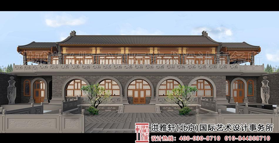 内蒙窑洞四合院设计-内院