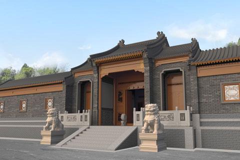 内蒙古窑洞改造为四合院,四合院建筑设计案例