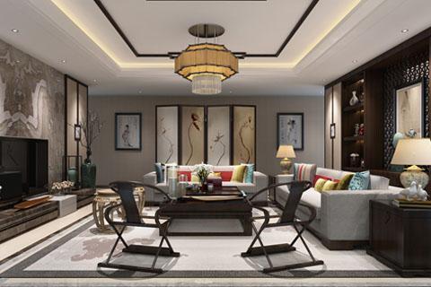 北京古典禅意风格别墅装修设计效果图