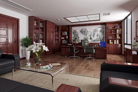 古典中式总裁办公空间中式设计装修效果图