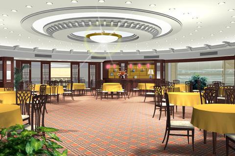 中式简易豪华高端酒店中式设计装修效果图