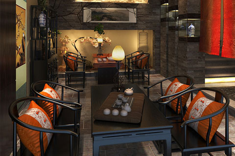 古典中式茶室装修设计效果图