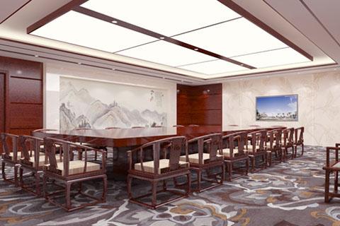 北京古典中式会所办公室、会议室、足疗室等全套效果图