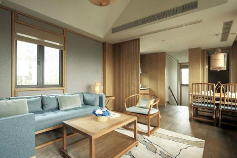 江苏纯木中式简易家装设计效果图