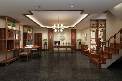 最新热门中式总裁办公室、办公空间装修效果图
