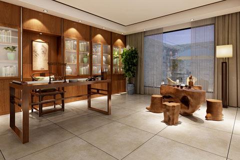 长沙155平古典中式家装装修效果图