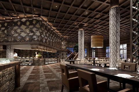杭州360平古典中式酒店中式装修效果图
