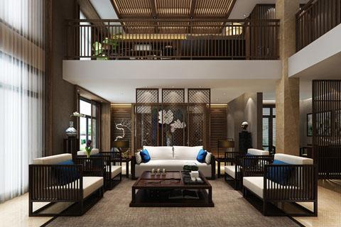 北京中式别墅设计装修效果图