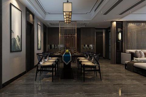 北京朝阳家装装修效果图180平四室两厅新中式风格设计