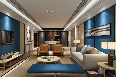 新中式禅意三室一厅一茶室家装装修效果图