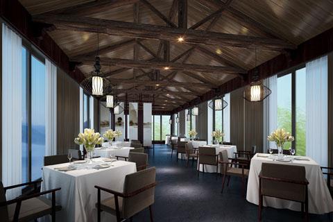 高端古典中式酒店客房、餐厅、套房等高清装修效果图