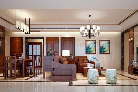 贵州318平别墅中式装修,娴静优雅的生活感受