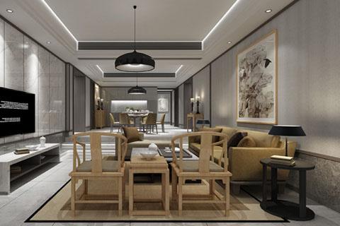 江西简易新中式家装装修效果图