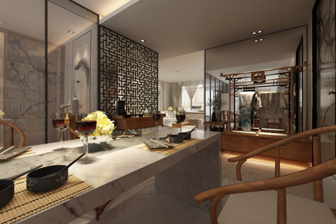 新中式家装装修效果图、虽然华贵却不失优雅温馨风情