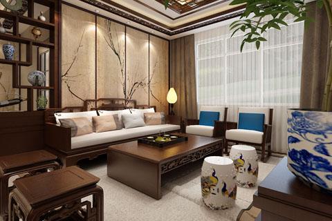 北京古典中式家装装修客厅、卧室、效果图