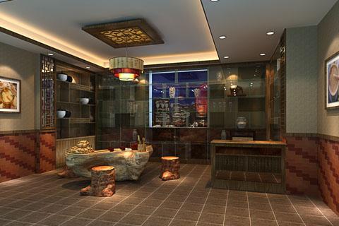 简约中式茶室装修效果图