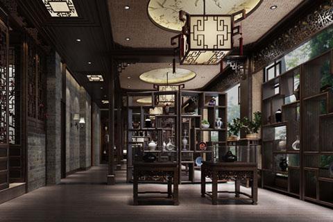 古典中式酒店包间、客厅、餐厅等装修设计效果图