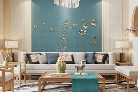 北京海淀280平简易中式别墅装修设计效果图