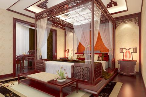 古典纯木家具中式家装装修效果图
