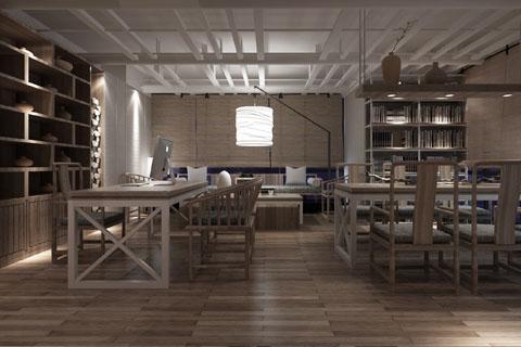 创意禅意风格装修会所设计高清效果图