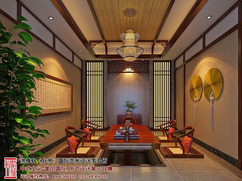 简约中式茶馆设计图片 茶室装修效果图