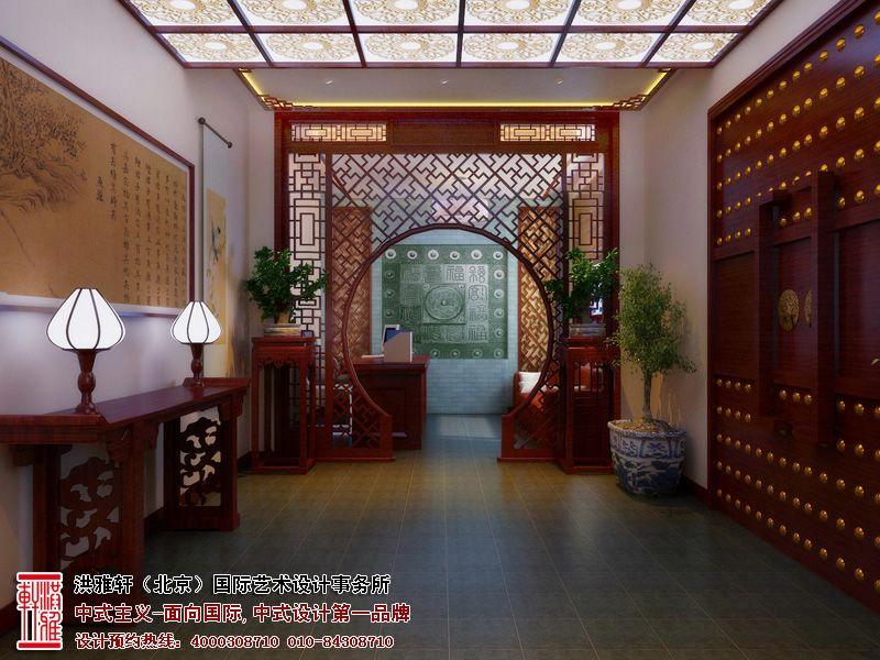 中式拱门装修效果图