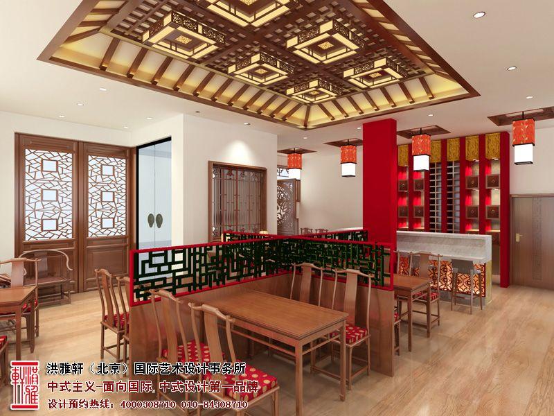 新中式木雕吊顶