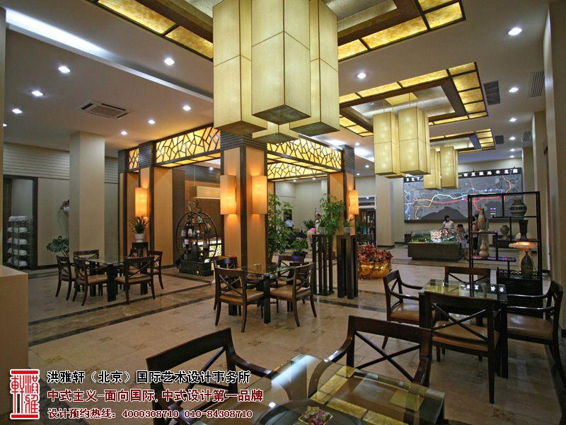 新中式售楼处装修效果图,高档奢华富有内涵高清图片