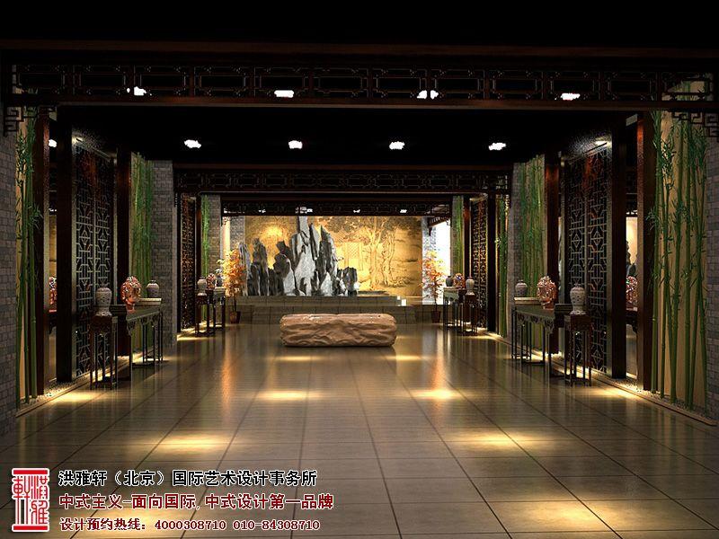 古典展厅中式设计古韵十足,洪雅轩设计师们利用古典的生活模式和