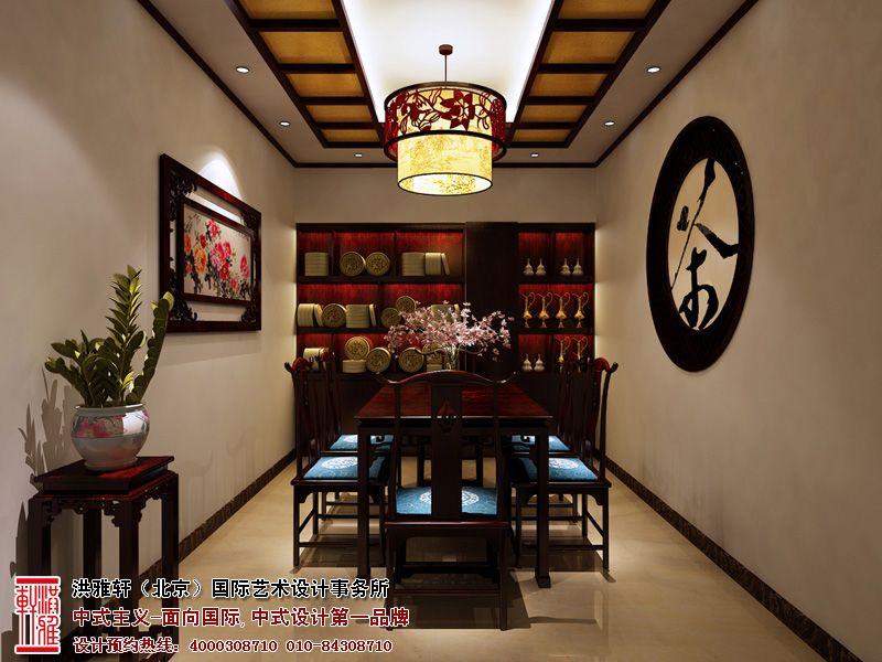 清新优雅的重庆茶艺展厅设计效果图