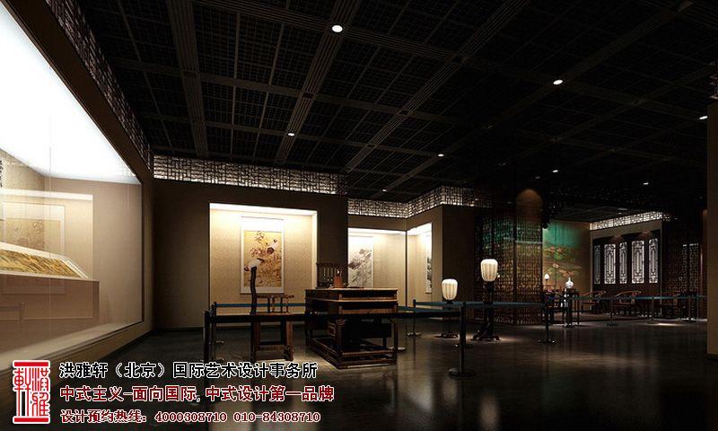 展厅中式设计效果图
